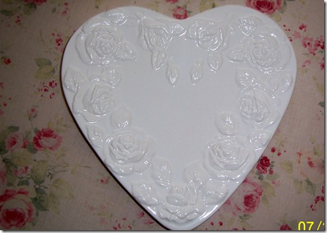 rose heart dish