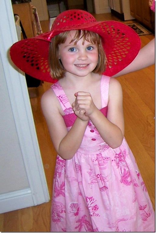 Jessie at tea birthday party