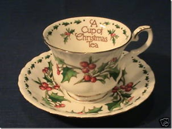 a cup of chirstmas tea teacup