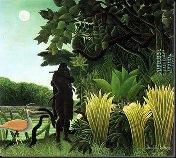 Henri Rousseau - La encantadora de serpientes, 1907