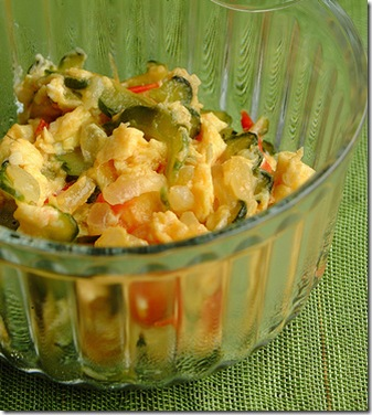 gisadong ampalaya with egg