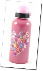 Bobble Art - Flower Heart Large Drink Bottle.jpg