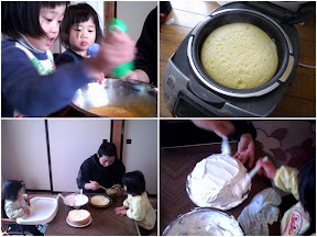 みんなでケーキ作り