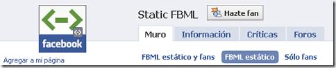 Static FBML de Facebook