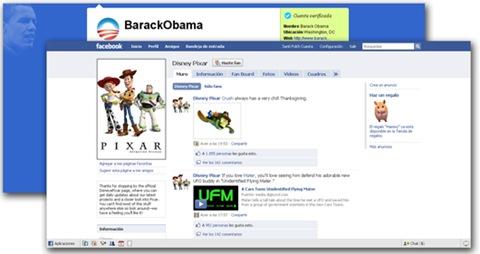 Barack Obama  y Pixar en las redes sociales