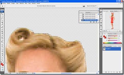 Ejemplo de trazado de recorte realizado en Photoshop para usar en Quark