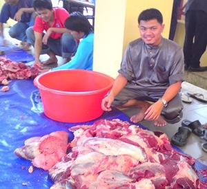Korban Lembu di Labuan 2008