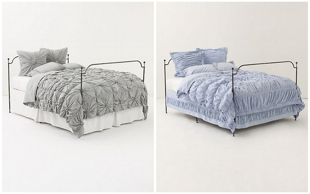 Anthropologie Rosette Quilt   Cirrus Duvet Cover