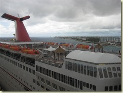 Carnival Imagination and Cozumel City in distance (Small)