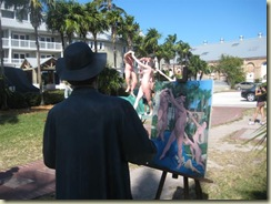 Statue painting statues (Small)