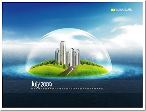wallpaper designs 3d. 3D Sea island design Desktop