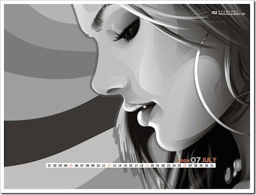desktop wallpapers for computers. Vector Girl Wallpaper desktop