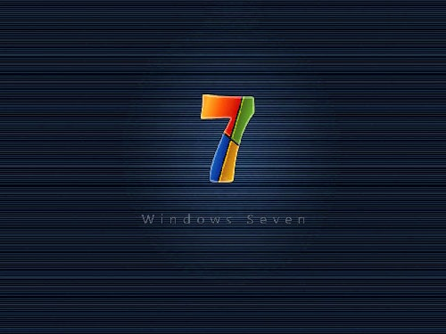 Blue 3d Windows 7 Desktop