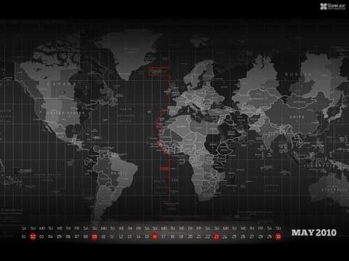 Desktop-wallpaper-calendar-background-May-2010-world-map