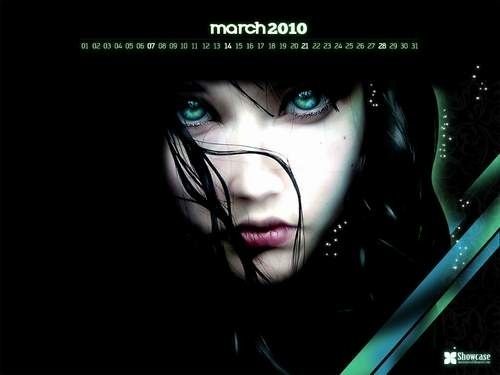 Desktop Wallpaper Calendars: March 2010