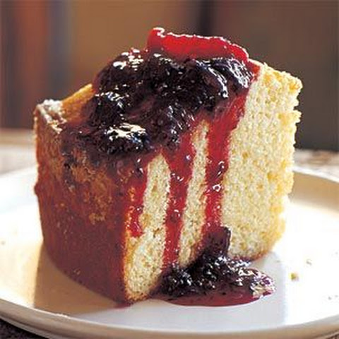 Olive Oil-Madeira Cake with Blood Orange Compote
