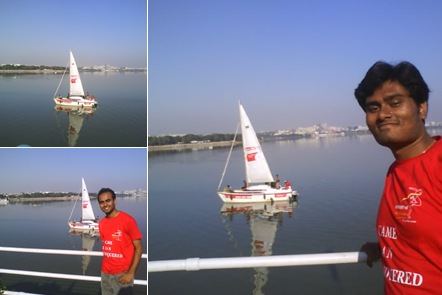 View save hussain sagar yatch
