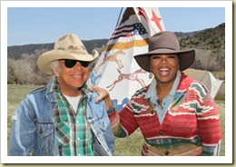 4 13 2011 - Oprah On Location At Ralph Lauren's Telluride, Colorado Ranch