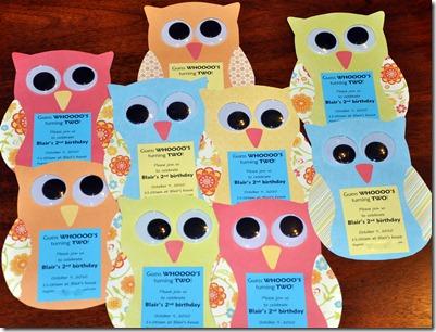 owl invitations 2