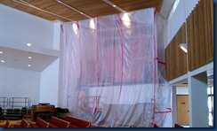 More of the tarp covering the Organ Chamber (Above the Sacristy)