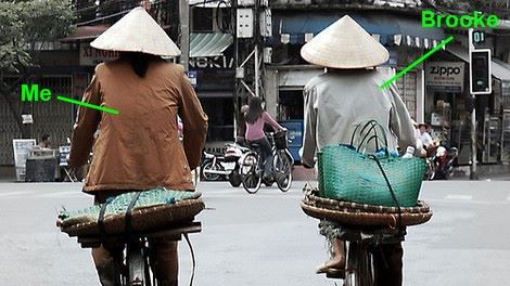 biking in Hanoi