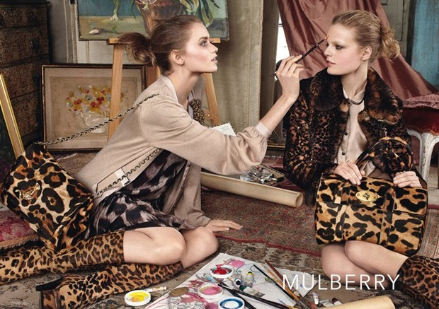 Abbey Lee Kershaw and Hanne Gabby for Mulberry 04