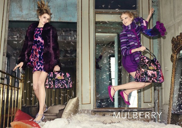 Abbey Lee Kershaw and Hanne Gabby for Mulberry 05