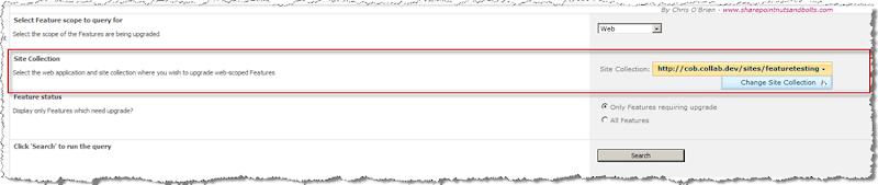 CentralAdmin_UpgradeWebFeaturesFiltering