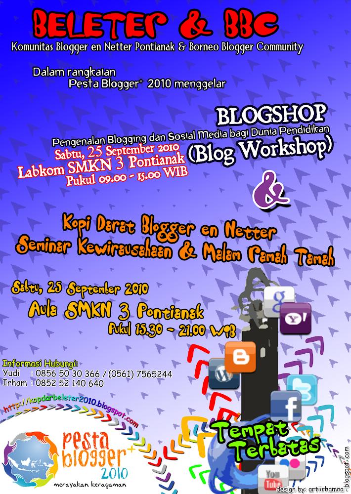 Pamflet - Pesta Blogger Pontianak 2010