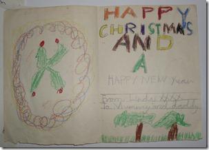 Early Christmas Card (1960s) Inside