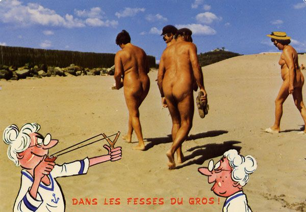 Cartes Postales Pop et  Kitsch des années 50, 70 et 70 - Pop and kitsch vintage postcards from the fifties, the sixties and the seventies : Tout nu et tout bronzé