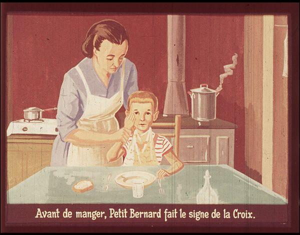 Films fixes et publicités de quartier (educational filmstrips) sur www.filmfix.fr : La miche de pain : Dieu a fait de bonnes choses - 1ère année
