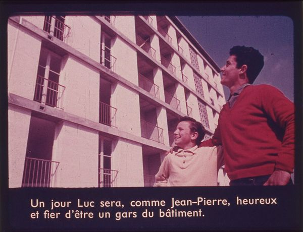 Films fixes et publicités de quartier (educational filmstrips) sur www.filmfix.fr : Chantier interdit au public