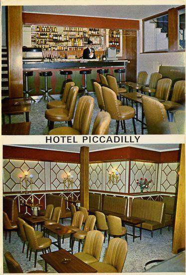 Cartes Postales Pop et  Kitsch des années 50, 70 et 70 HOTEL PICCADILLY (SITGES)Todas las habitaciones con baño, terraza, salon y cafeteria Abierto todo el año