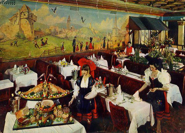 Cartes Postales Pop et  Kitsch des années 50, 70 et 70 Chez HANSI Grande Brasserie Alsacienne 3, place du 18 juin 1940 PARIS-MONTPARNASSE