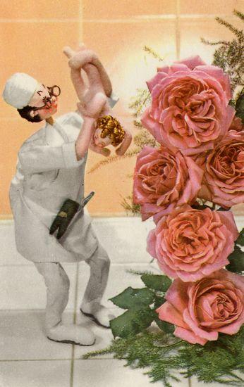 Cartes Postales Pop et  Kitsch des années 50, 70 et 70 - Pop and kitsch vintage postcards from the fifties, the sixties and the seventies : Mad doctors - Savants fous
