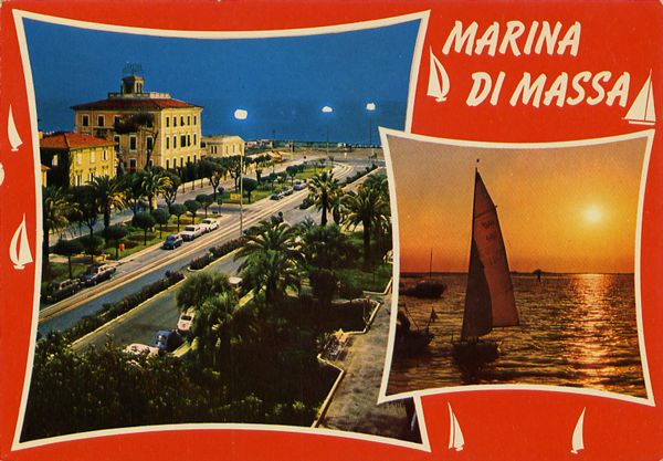 Cartes Postales Pop et  Kitsch des années 50, 70 et 70 - Pop and kitsch vintage postcards from the fifties, the sixties and the seventies : Fenêtres sur la mer