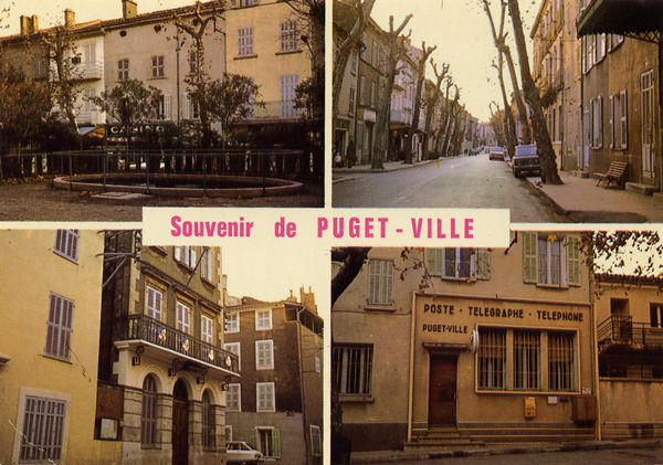 Cartes Postales Pop et  Kitsch des années 50, 70 et 70 - Pop and kitsch vintage postcards from the fifties, the sixties and the seventies : PUGET-VILLE (Var) Souvenir du pays