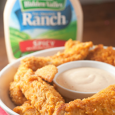 Oven Fried Spicy Ranch Chicken Strips