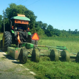 Roadside mower by Terry Linton - Transportation Other