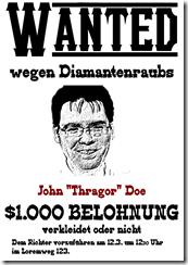 Beispiel für Wanted-Plakat