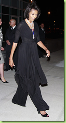 michelle obama wearing a tom binns necklace