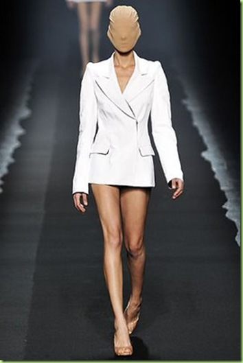 runway model white tux