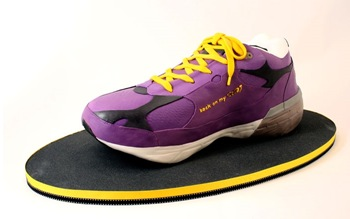 purple sneaker cake
