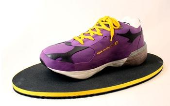 purple sneaker cake