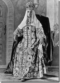 Alexandra in trad. costume of Czrina