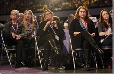 ladies enjoying the speechifying