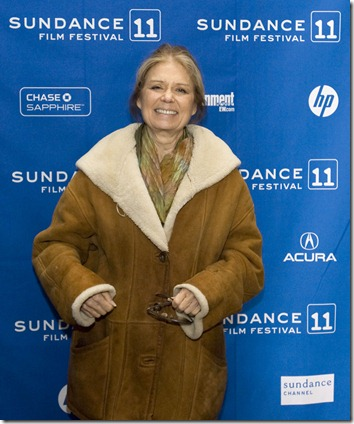 "Steve Griffin  |  The Salt Lake Tribune   Gloria Steinem attends the Sundance premiere of ""Miss Representation"" at the Yarrow Hotel in Park City Saturday, January 22, 2011. Davis stars in the movie."