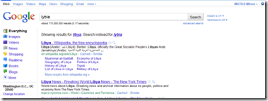 Lybia On Google