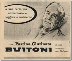 pastina glutinata Buitoni 1959